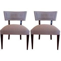 Pair of Midcentury Slipper Chairs