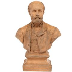 19th Century French Bust Sculpture of a Gentleman