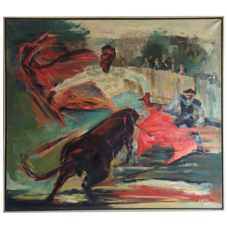 Expressionist Matador Scene Oil Painting by Margorie Romynus