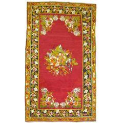 Floral Turkish Medallion Rug