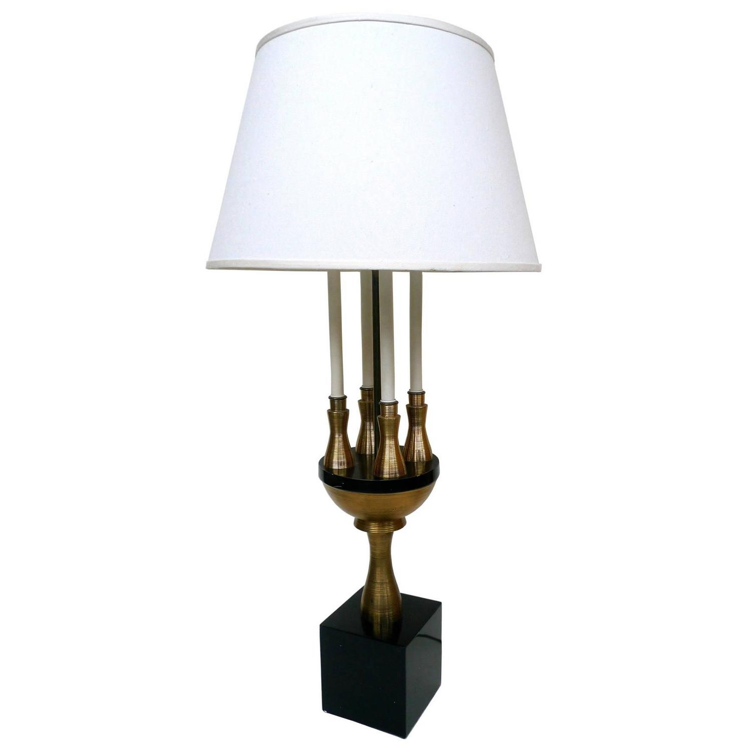 Tall Table Lamp Attributed To Tommi Parzinger At 1stdibs