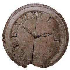 19th Century Wood Clock Face