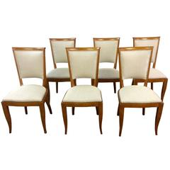 Art Deco French Dining Chairs Set of Six
