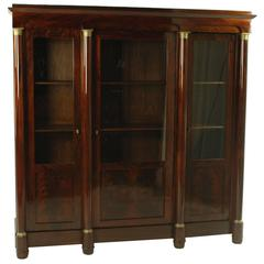 19th Century Biedermeier Mahogany Glass Cabinet