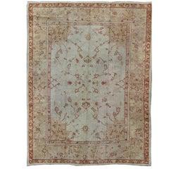 Splendid Antique Turkish Oushak Carpet