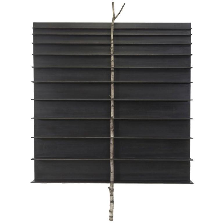 "Andrea Branzi, ""Tree 5"" Cabinet, Bookshelf, Birch Wood, Aluminum, 2010 For Sale"