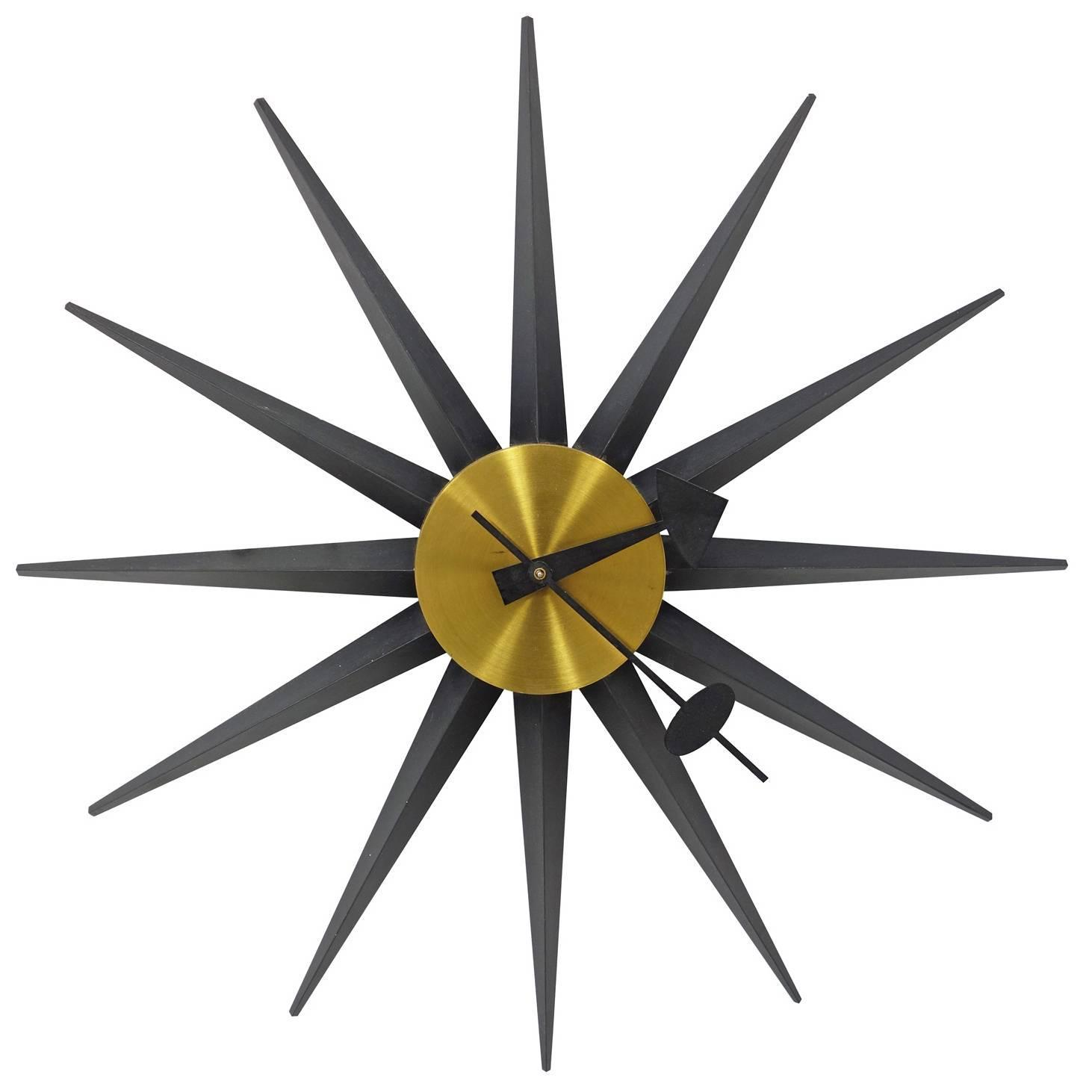 George nelson spike clock by howard miller at 1stdibs for Nelson wall clock