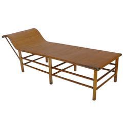 Wicker Chaise Longue