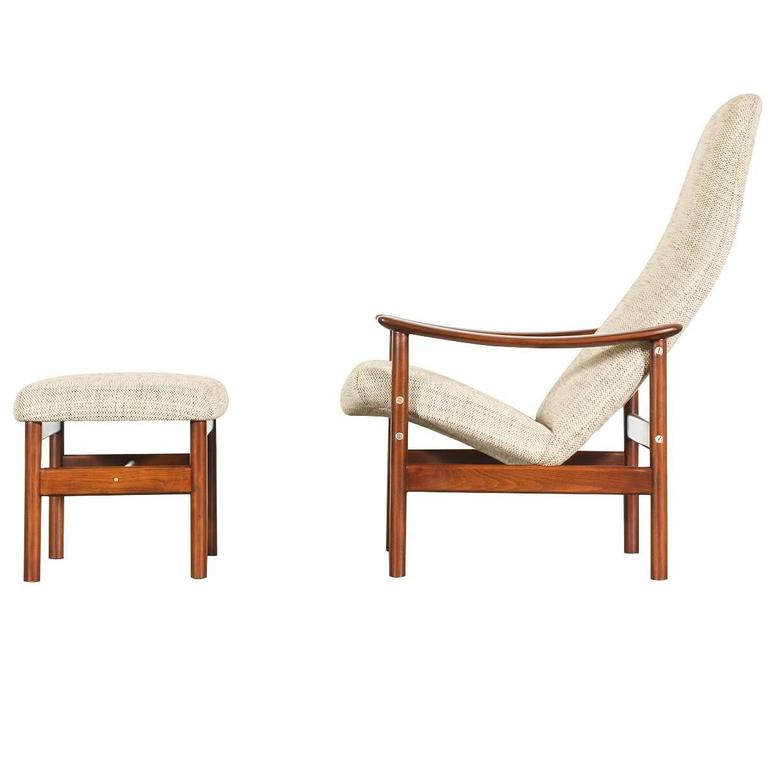 Alf Svensson Lounge Chair with Ottoman for Ljungs Industrier at 1stdibs