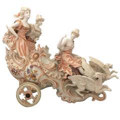 Antique Sitzendorf Porcelain Carriage