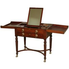 19th Century Directoire Gentleman Dresser Table in solid Mahogany