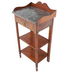 French 19th Century Louis Philippe Side Table with Marble Top