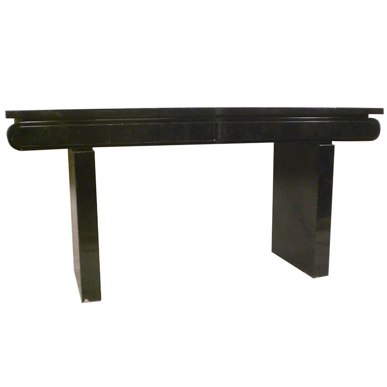 Mid Century Black Lacquer Console For Sale At 1stdibs