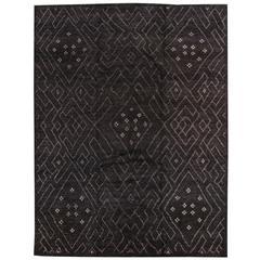 Black Moroccan Berber Rug