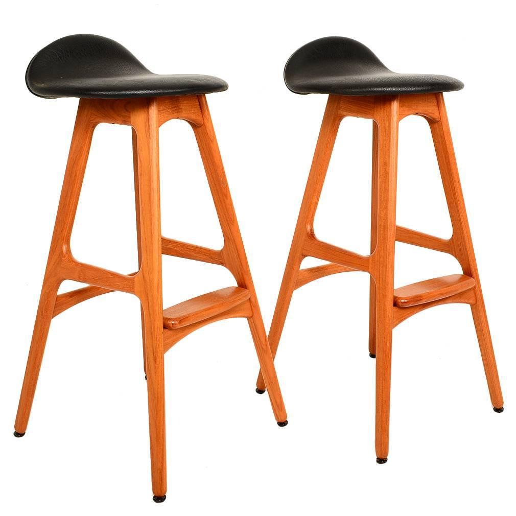 New orange Leather Bar Stools