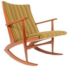 Holger Georg Jensen Teak Model 97 Rocking Chair
