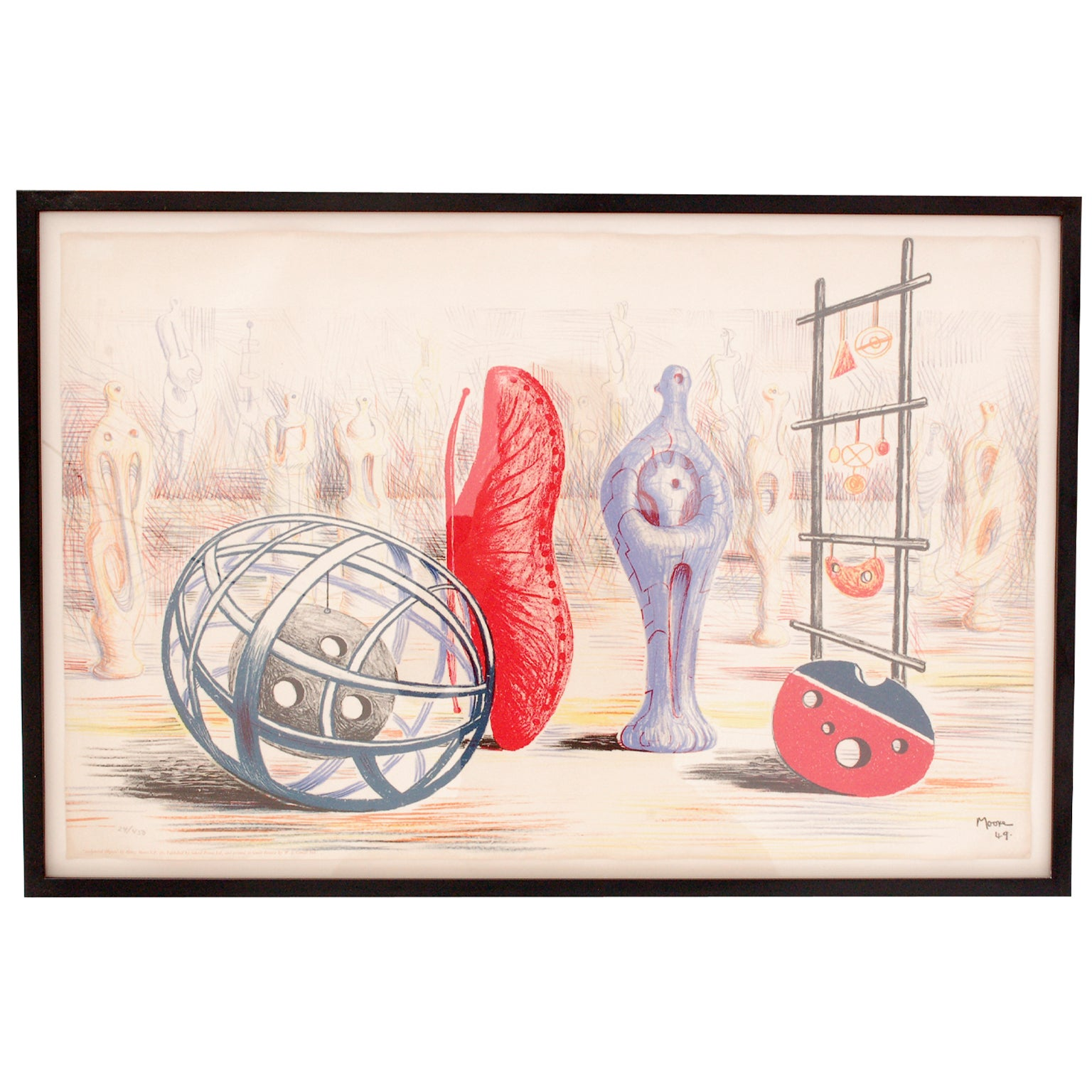 """""""Sculptural Objects"""" Lithograph by Henry Moore 24/450"""