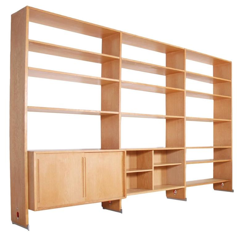 Hans Wegner Oak Bookcase for RY Mobler, Model RY-100
