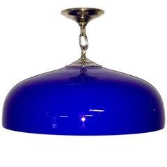 Mid-Century Swedish Glass Pendant Light Fixture