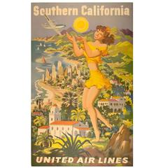 Vintage United Airlines Poster