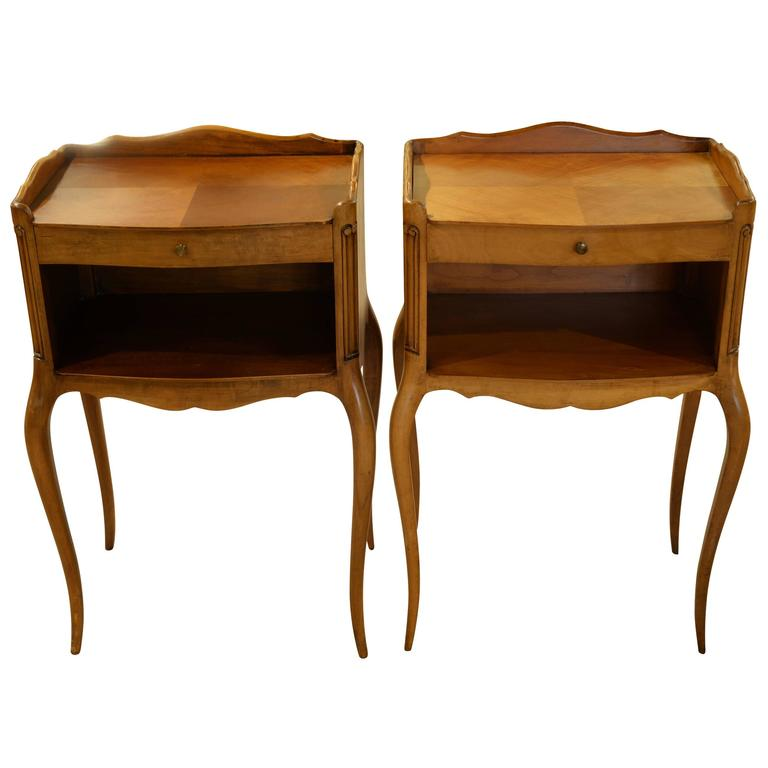 Pair of continental louis xv style bedsides at 1stdibs for Continental furniture company bedroom