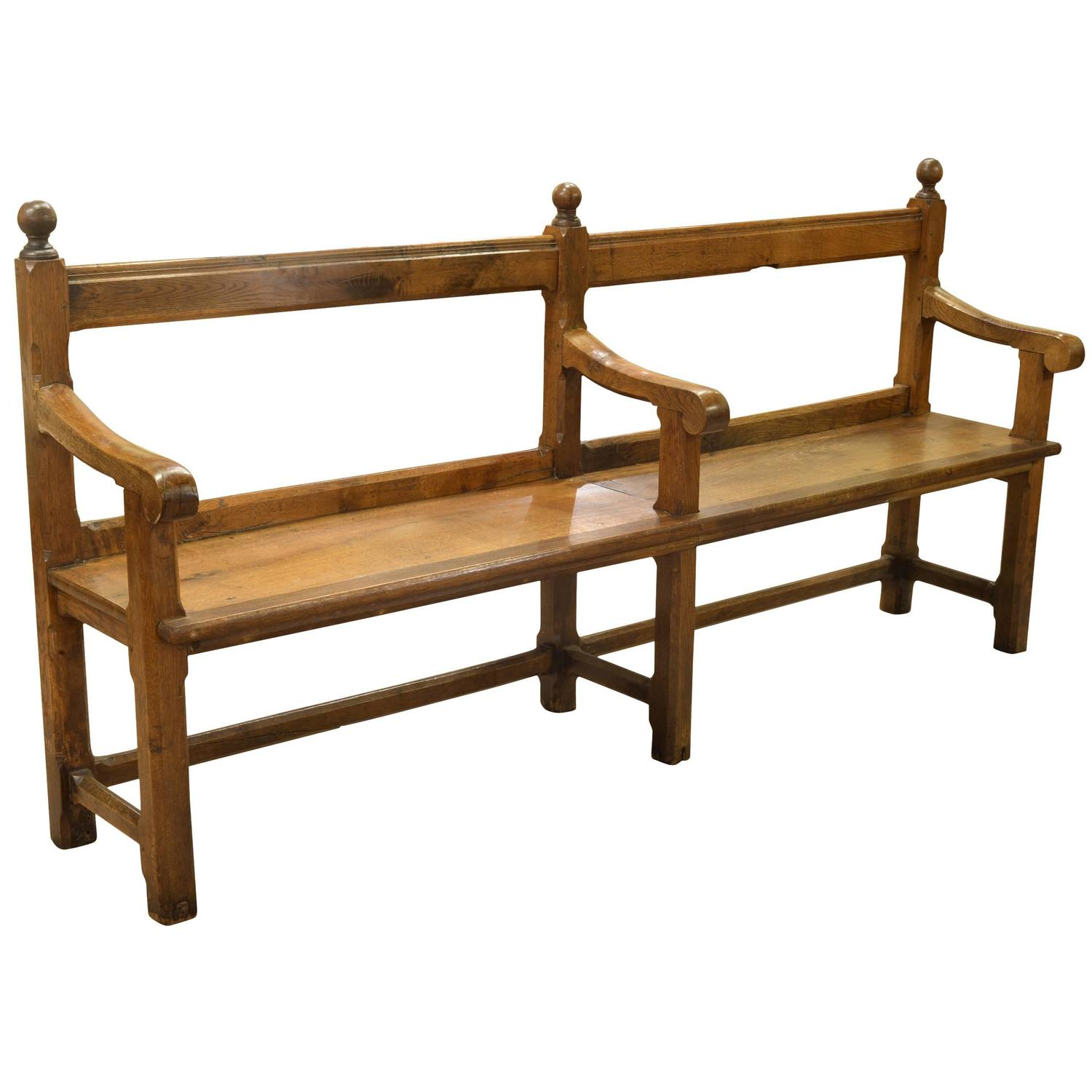victorian oak bench pew at 1stdibs