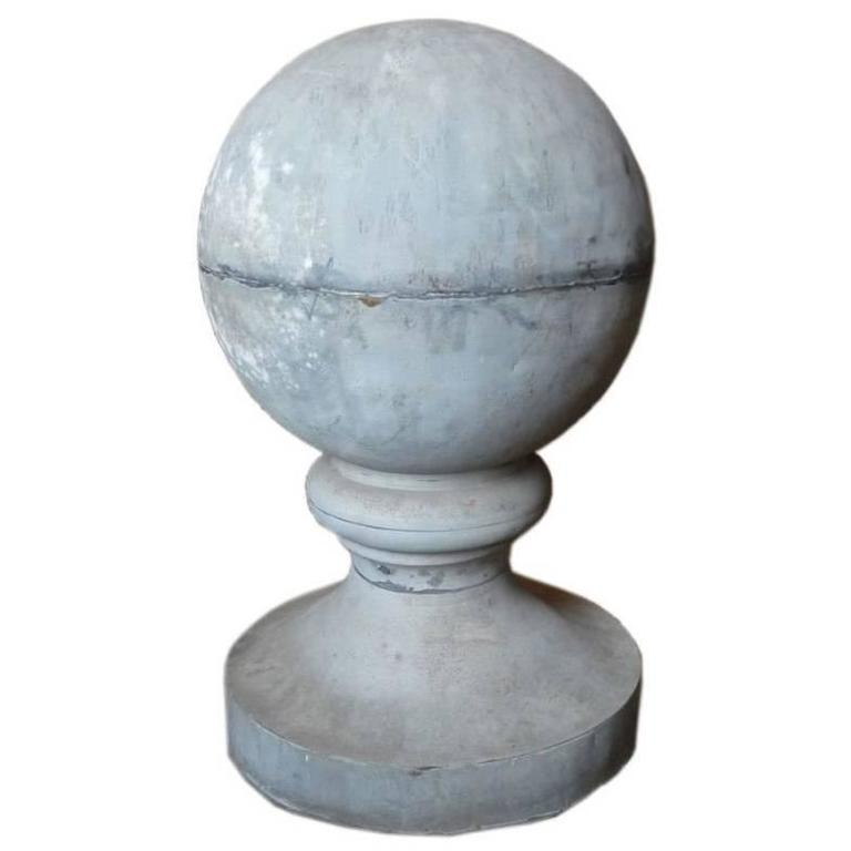 19th Century Zinc Roof Finial or Ornament