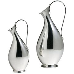 Danish Sterling Silver Vases