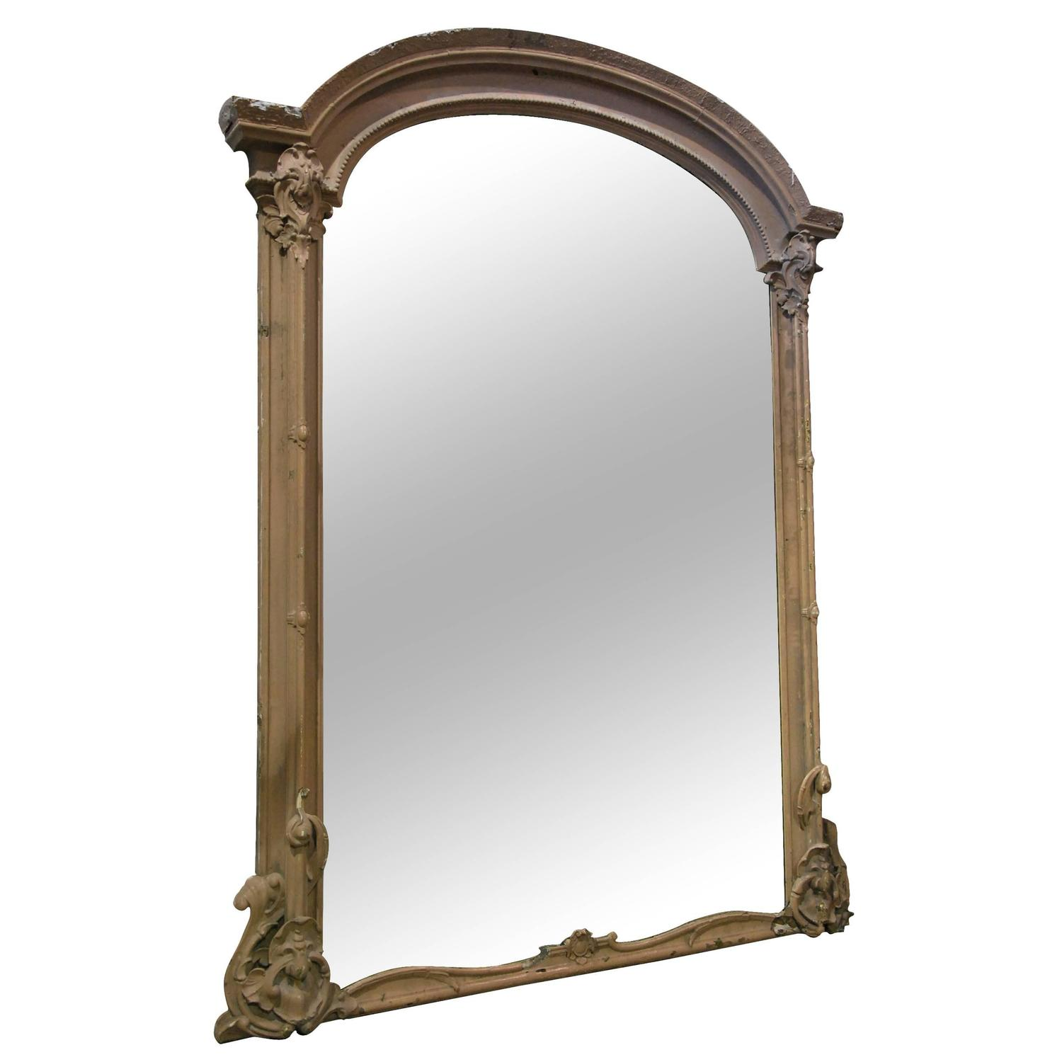 19th century large french style gilded mirror at 1stdibs