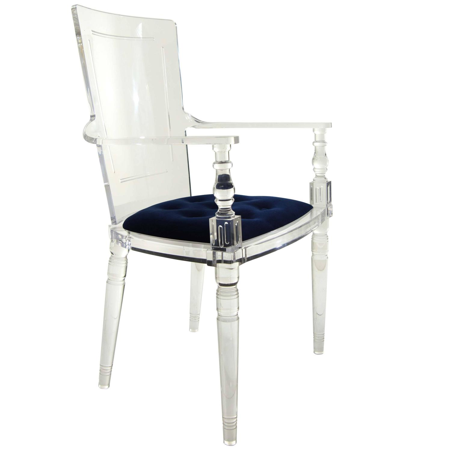 Lucite Dining Armchair For Sale At 1stdibs
