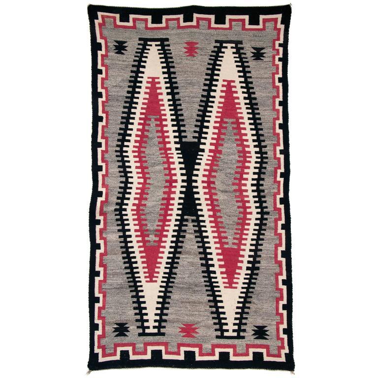 Vintage Navajo Trading Post Rug, 20th Century
