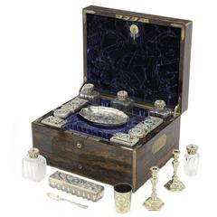 19th Century English Travelling Dressing Case