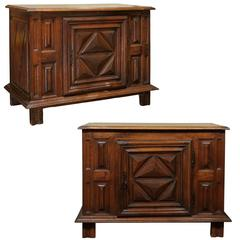 Pair of 19th Century French Carved Walnut Buffets