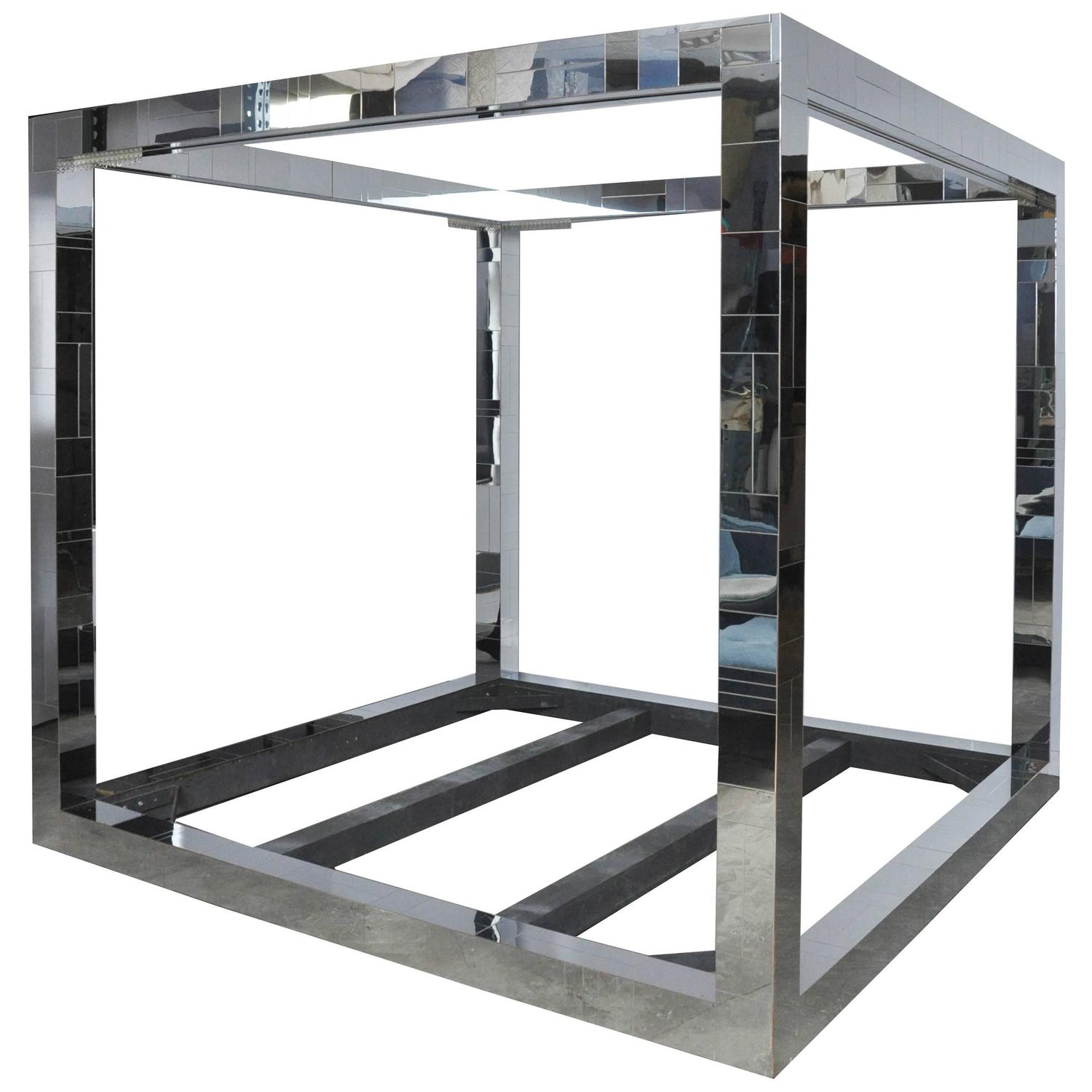 Paul Evans Cityscape King Size Canopy Bed At 1stdibs