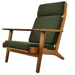 Mid century Modern High Back Lounge Chair by Hans J. Wegner
