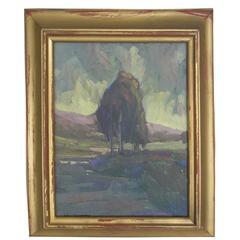 Original Oil Painting by William Dorsey California Landscape, circa 1950