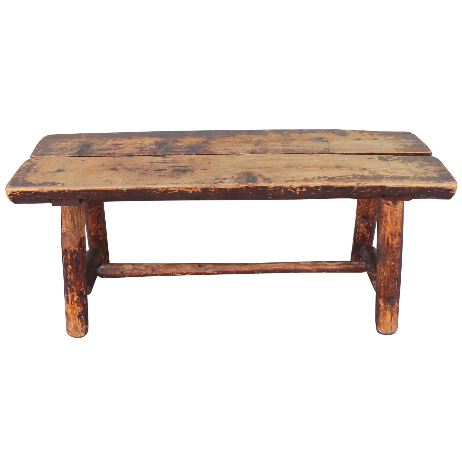 Fantastic Split Log Pine And Hickory Bench At 1stdibs. Full resolution‎  file, nominally Width 1500 Height 1500 pixels, file with #965835.