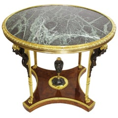 A Fine French Early 20th Century Gilt-Bronze Center Table Attr. Francois Linke