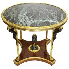 A French Early 20th Century Patinated and Gilt-Bronze Table Attr. Francois Linke