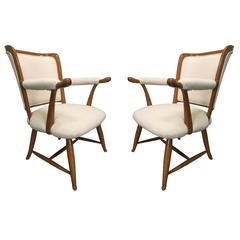 Pair of 1950s French Country Armchairs