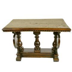 18th Century Renaissance Style Italian Walnut Side Table