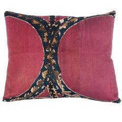 19th Century Uzbek Tashkent Suzani Pillow