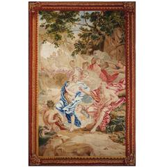 Beautiful Antique Tapestry - Brussels 1700, History of Neptune