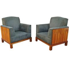 Pair of Eliel Saarinen House Lounge Armchairs Art Deco