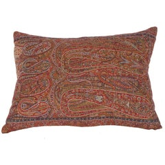 Early 19th Century Paisley Wool Pillow