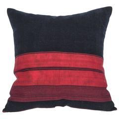 Late 19th-Early 20th Century Afghan Waziri Shawl Pillow