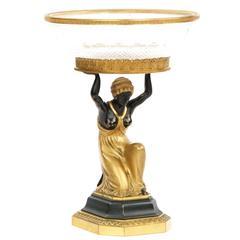 Austrian Empire Gilt Bronze Sculpture Figural Antique Centerpiece, 19th Century