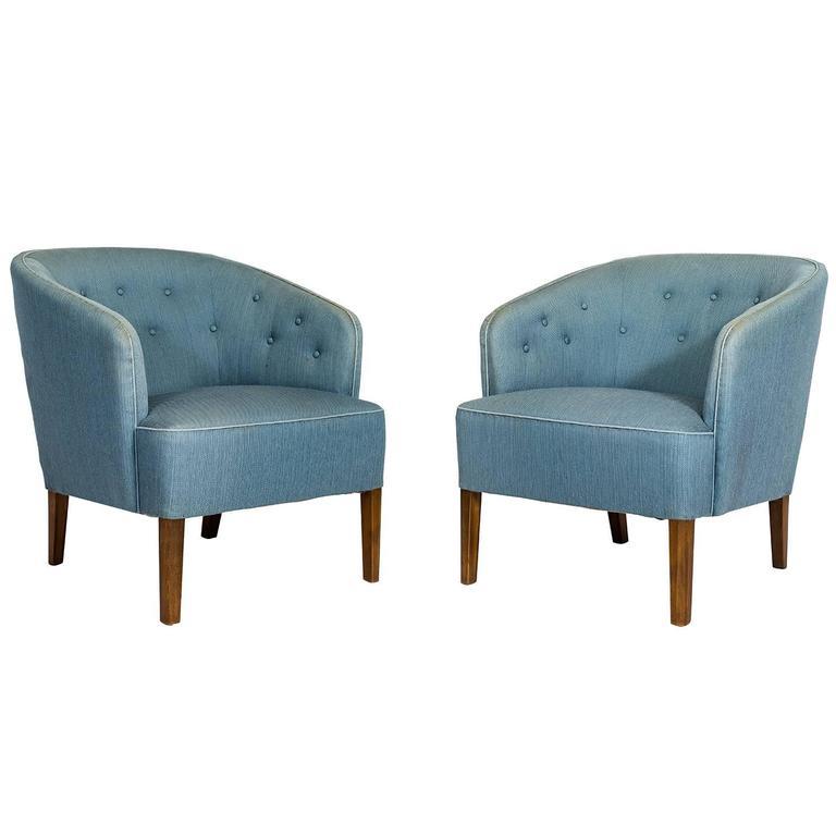 Pair of Ludvig Pontoppidan Lounge Chairs