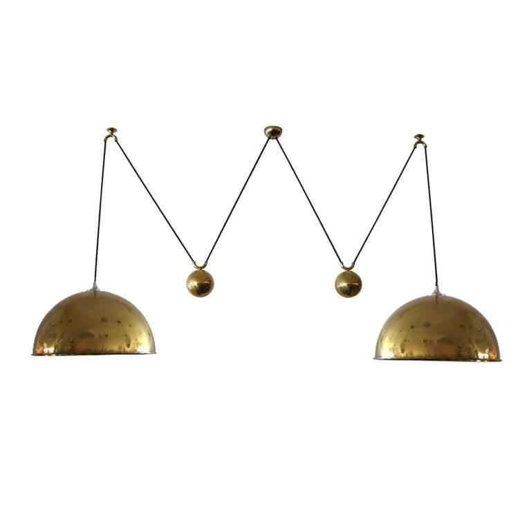 Florian Schulz Vintage Double Counterbalance Pendants For Sale