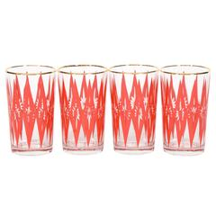 Mid-Century Starburst Glassware, Set of Four